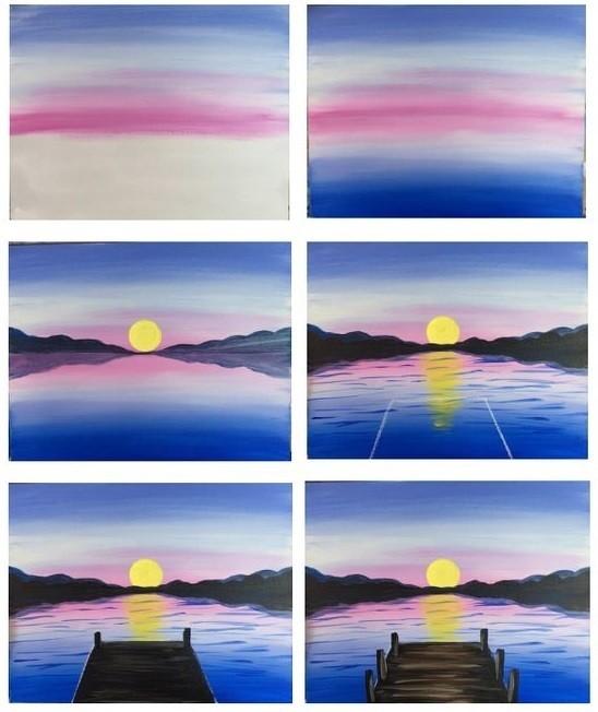 Рисуем с детьми восход солнца