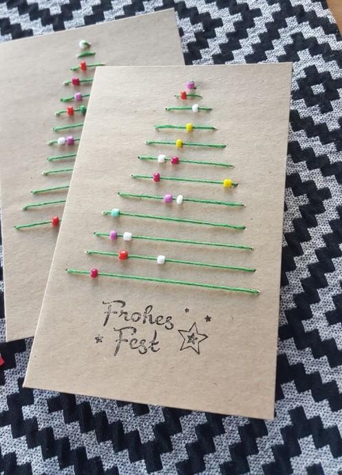 Идеи для новогодних открыток 5