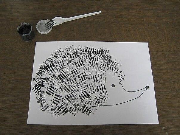 Идеи рисования вилкой