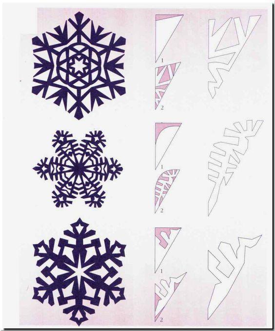 Схемы головокружительных снежинок 9