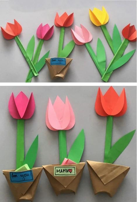 Бумажные тюльпаны 1