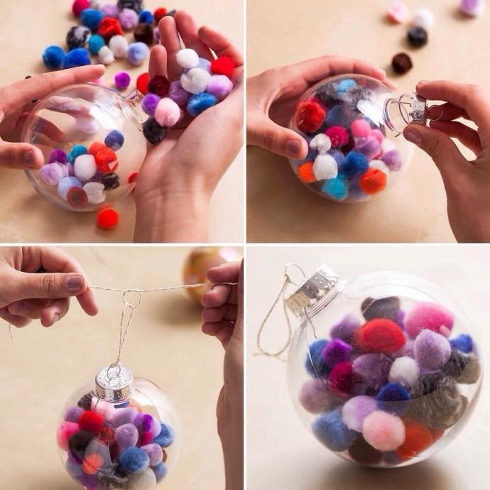 Идеи оформления ёлочных игрушек с детьми 1