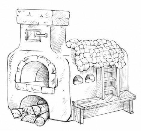 Рисуем печь 4