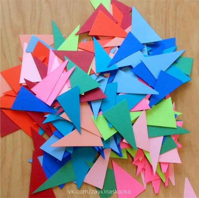 Совушка-сова из геометрических фигур