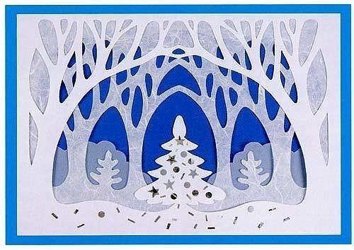 Замечательное новогоднее панно из бумаги 4