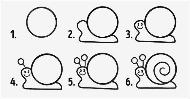 10 рисунков из кружков, которые легко нарисовать с детьми