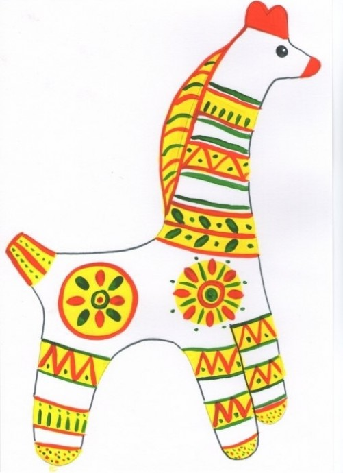 Филимоновская игрушка: лошадка