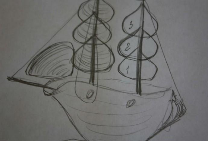 Кораблик из ракушек: мастер-класс
