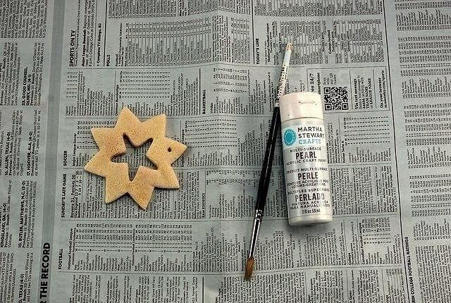 Красивые снежинки из солёного теста
