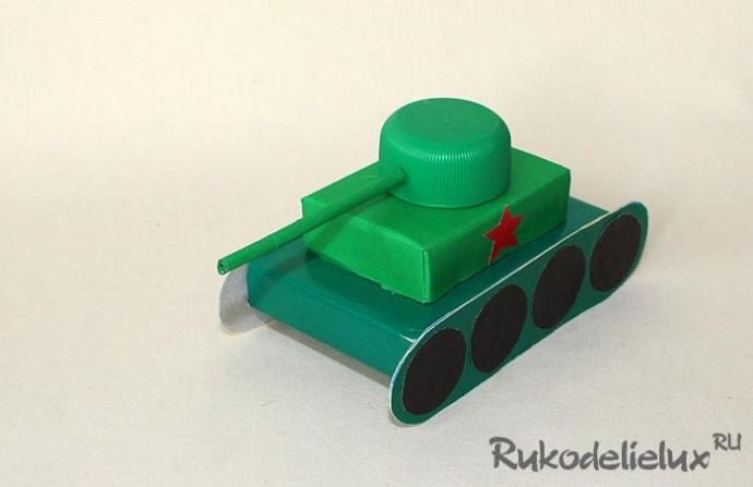 Самолёт и танк своими руками 8