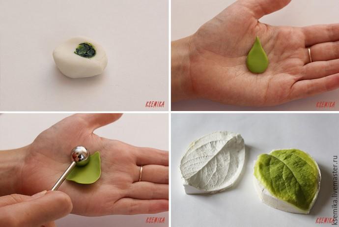 Веточка яблони из полимерной глины