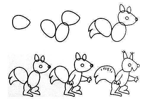 10 примеров, как нарисовать зверей поэтапно 6