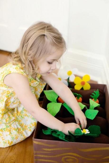 Детская развивающая игрушка «Веселая грядка» своими руками 9