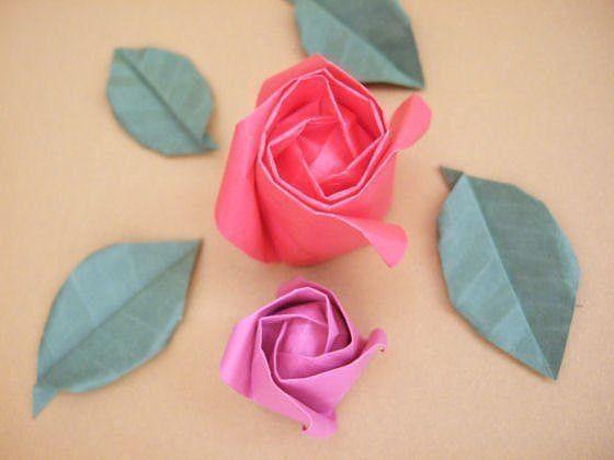 Делаем розу оригами 16