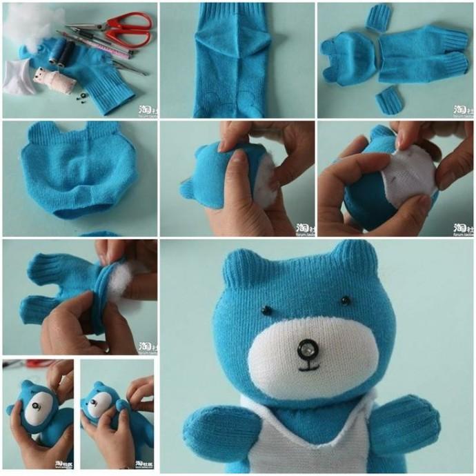 Делаем с детьми игрушки из носков