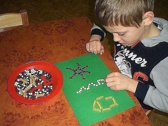 Игры с крупами для развития моторики детских рук