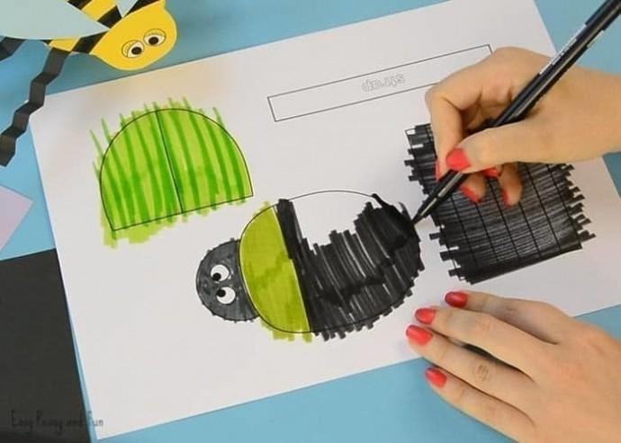 Бумажные игрушки-букашки