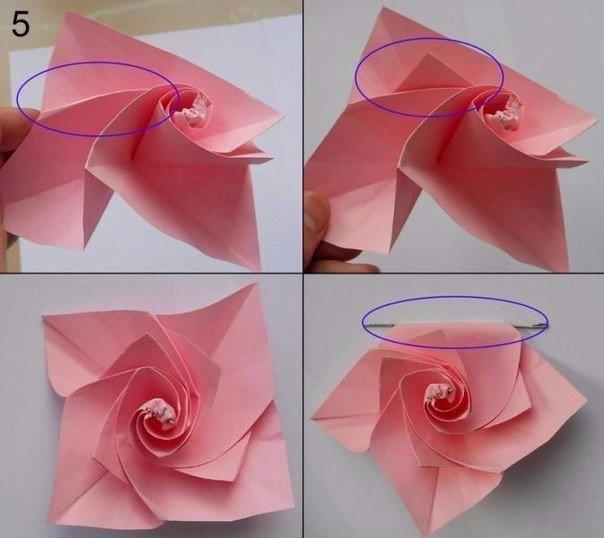Делаем с детьми цветы в технике оригами