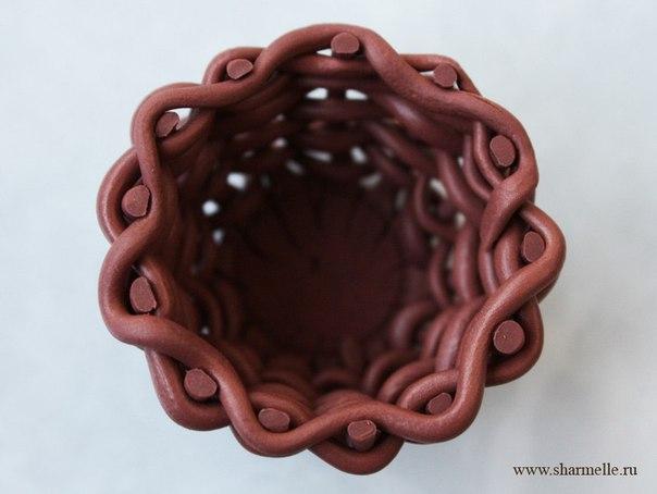 Корзиночка из полимерной глины