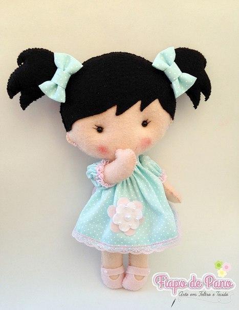 Очаровательные куколки из фетра 1