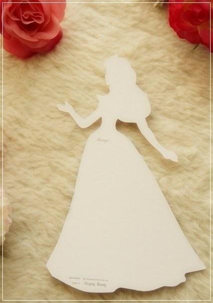 """Открытка """"Принцесса в платье"""""""