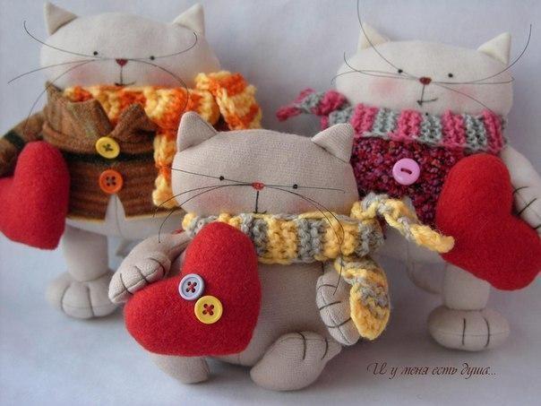 Текстильные котики