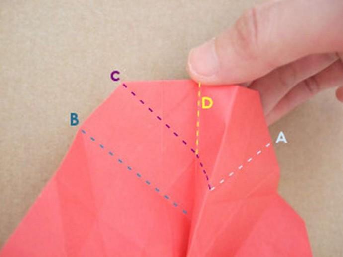 Делаем розу оригами 9