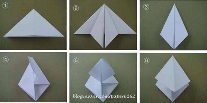 Елочки из бумаги: мастер-класс