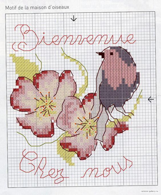 Схемы вышивки для детей: птички 4