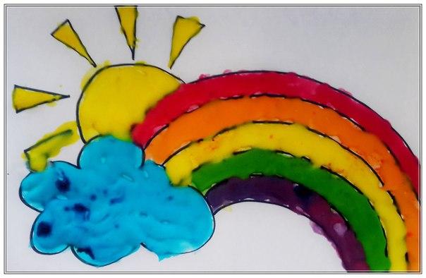 Объемные краски своими руками и рисунки из них
