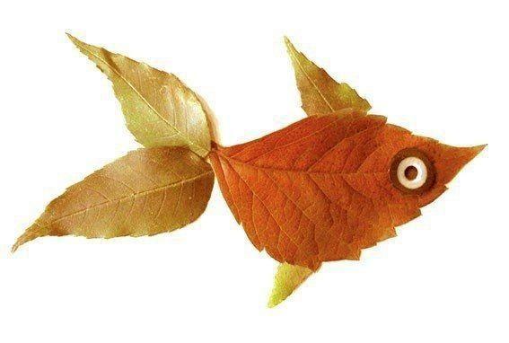 Рыбки из листьев: идеи для детского творчества