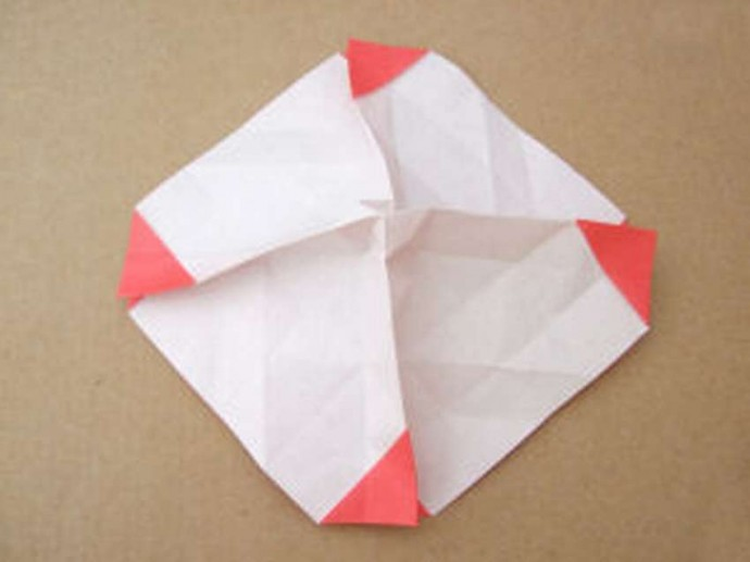 Делаем розу оригами 4