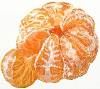 Как нарисовать мандарин