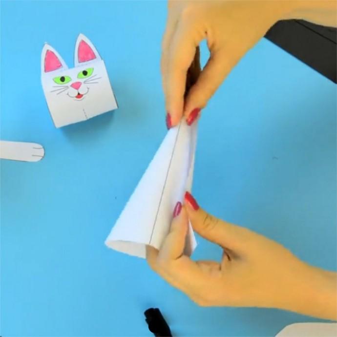 Кошечки из бумаги 5
