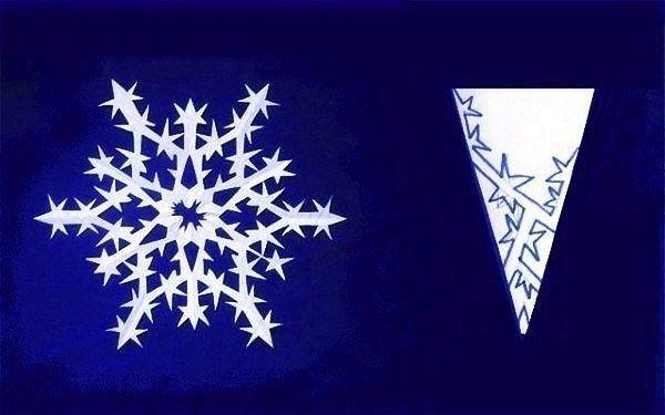 Делаем снежинки по красивым шаблонам