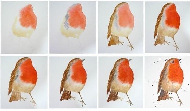 Рисуем с детьми птичку