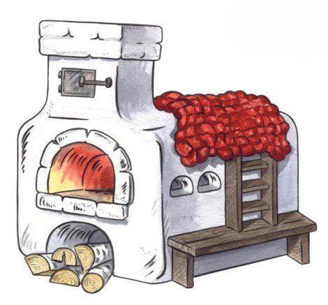 Рисуем печь 5