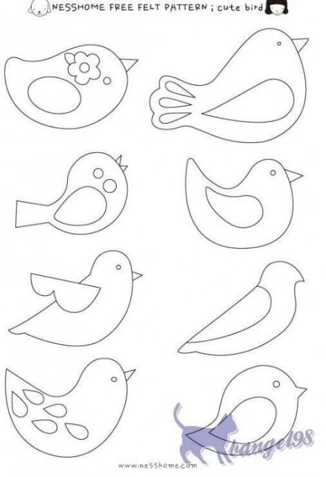 Самые разные птички из фетра