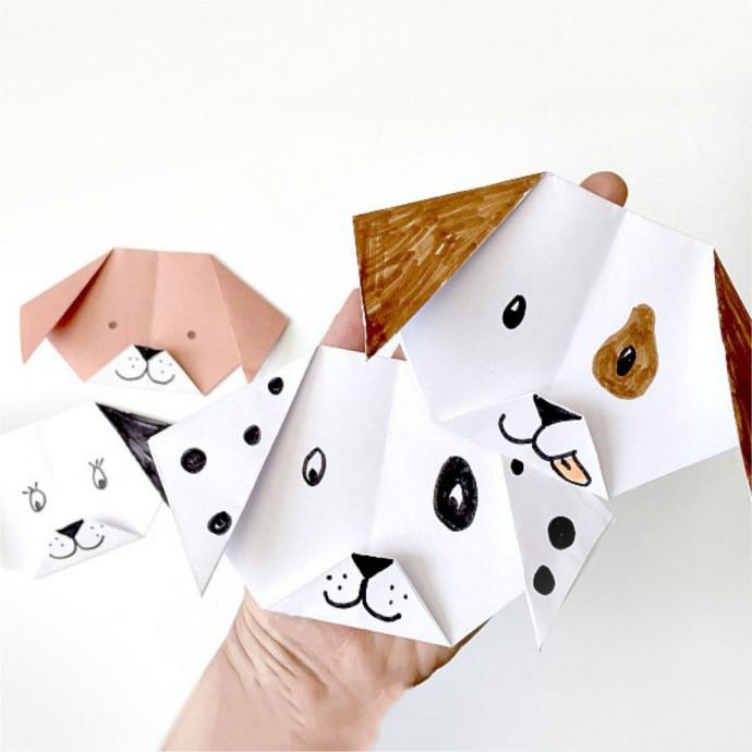 Собачка оригами 7