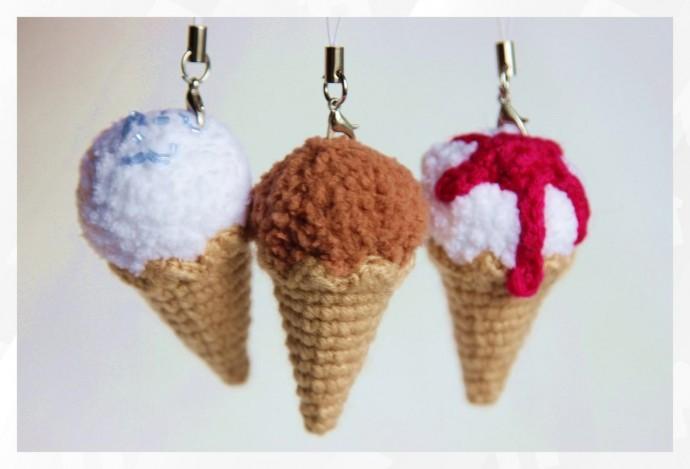 Вяжем с детьми мороженое