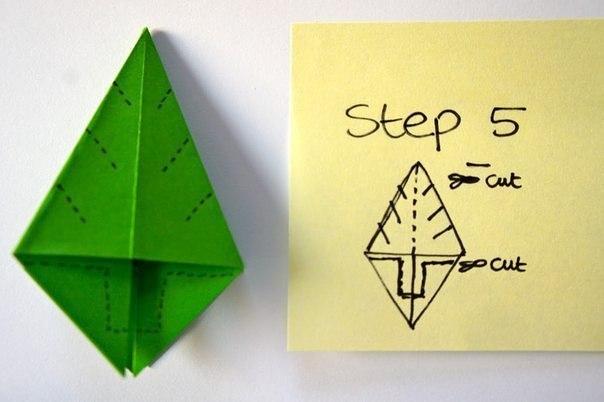 Бумажная елочка-оригами 5