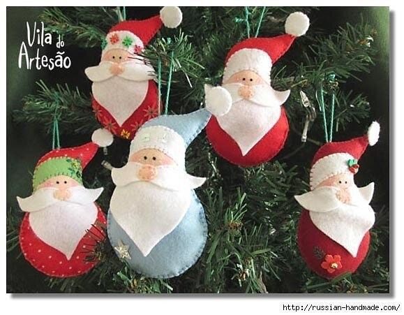 Дед Мороз из фетра 7