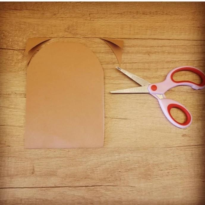 Зайчата из плотной бумаги