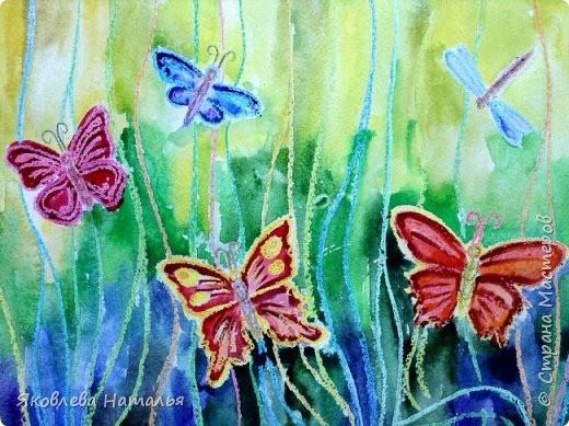 Рисуем ярких бабочек