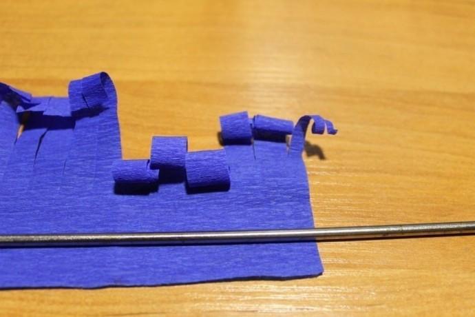 Букетик гиацинтов из гофрированной бумаги