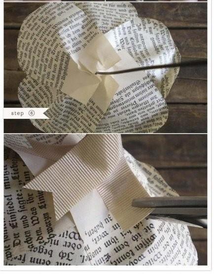 Бумажные цветы из газет