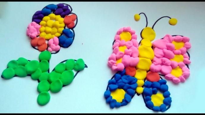 Интересные идеи поделок из комочков пластилина