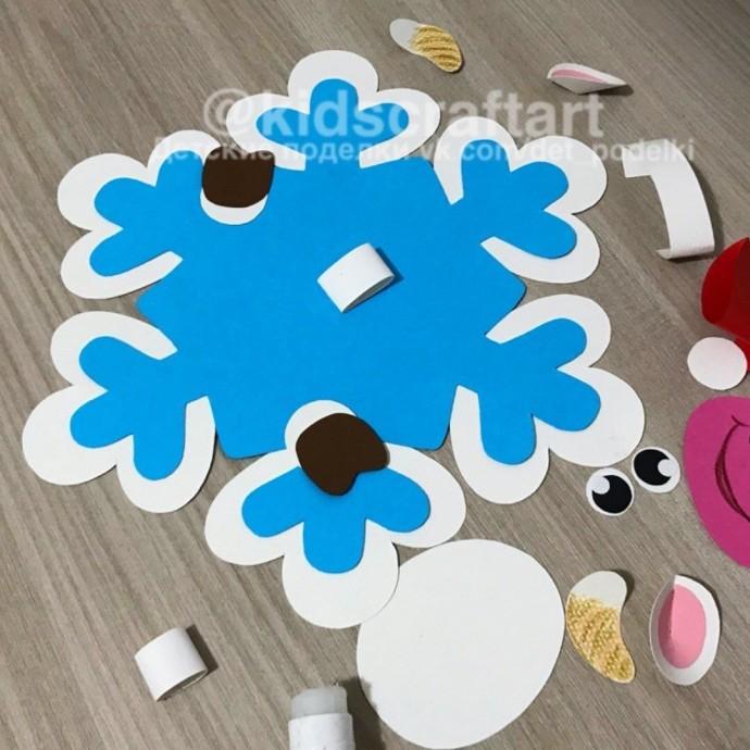 Коровка-снежинка