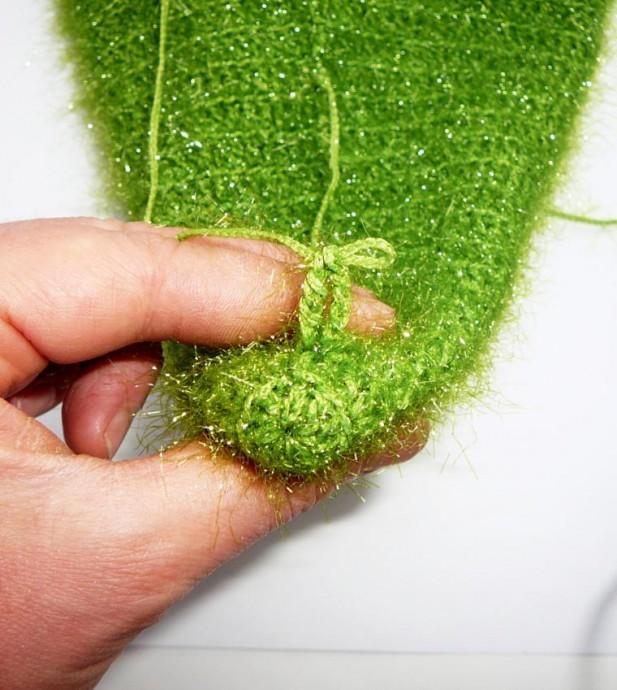 Вязаная елочка: описание вязания и мастер-класс 3