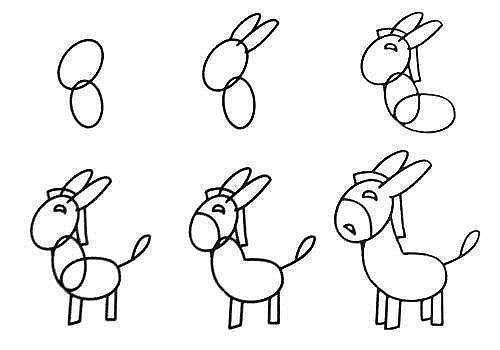 10 примеров, как нарисовать зверей поэтапно 5